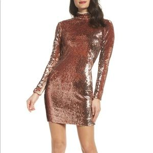 Dress the population sequin Katy dress